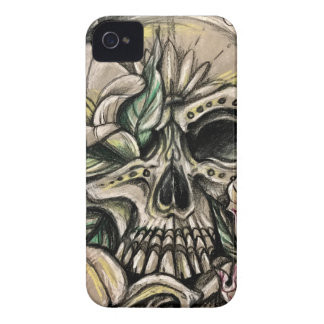 Sugar skull and lilies Case-Mate iPhone 4 cases