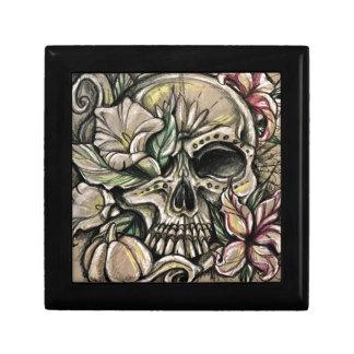 Sugar skull and lilies gift box