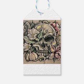 Sugar skull and lilies gift tags