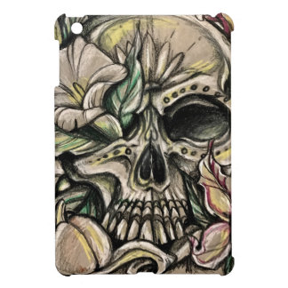 Sugar skull and lilies iPad mini case