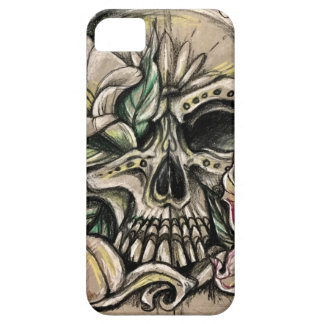 Sugar skull and lilies iPhone 5 cases