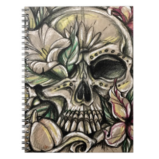 Sugar skull and lilies notebooks