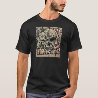 Sugar skull and lilies T-Shirt