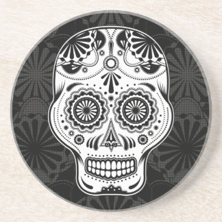 Sugar Skull Art - Day of the Dead coaster