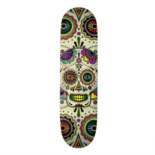 Sugar Skull Art Day of the Dead Skateboards