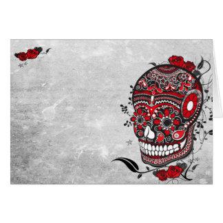 Sugar Skull Balck and Red Note Card