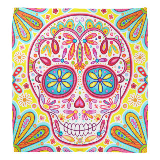 Sugar Skull Bandana - Day of the Dead Art