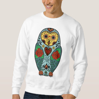 Sugar Skull Barn Owl Sweatshirt