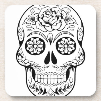 Sugar Skull Beverage Coaster