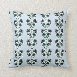 Sugar Skull Blue Ferret Cushion