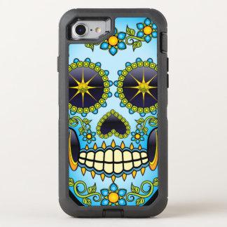 Sugar Skull Blue Floral OtterBox Defender iPhone 8/7 Case