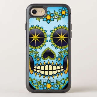 Sugar Skull Blue Floral OtterBox Symmetry iPhone 8/7 Case