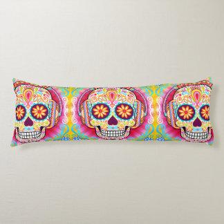 Sugar Skull Body Pillow - Day of the Dead Art