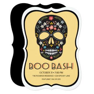 Sugar Skull Boo Bash Card
