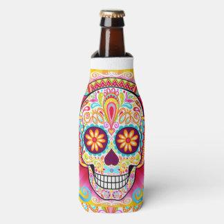 Sugar Skull Bottle Cooler - Day of the Dead Skulls
