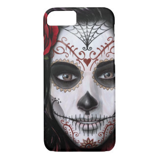 Sugar Skull by Mike Morgan Designs iPhone 7 Case