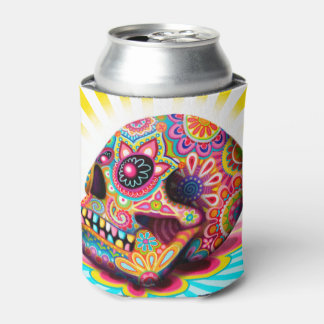 Sugar Skull Can Cooler - Day of the Dead