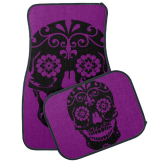 Sugar Skull Car Mat Set
