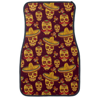 Sugar Skull  Car Mats (Front) (set of 2)