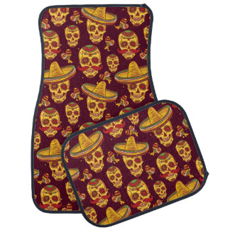 Sugar Skull Car Mats Full Set (set of 4)
