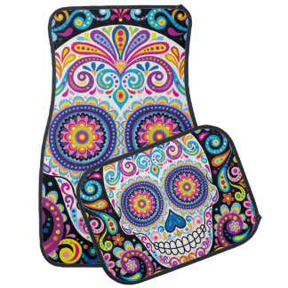 Sugar Skull Car Mats - Set of 4 Car Mats