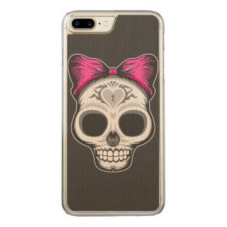 Sugar Skull Carved iPhone 7 Plus Case