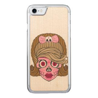 Sugar Skull Carved iPhone 8/7 Case