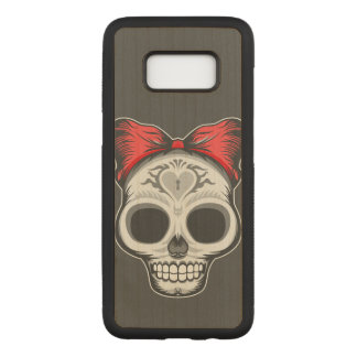 Sugar Skull Carved Samsung Galaxy S8 Case