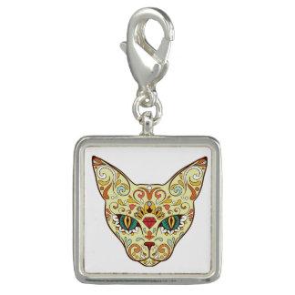 Sugar Skull Cat - Tattoo Design Charm