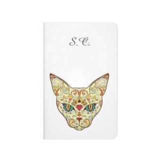 Sugar Skull Cat - Tattoo Design Journals