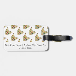Sugar Skull Cat - Tattoo Design Luggage Tag