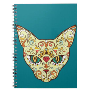 Sugar Skull Cat - Tattoo Design Notebook