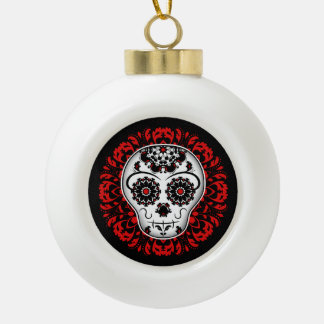 Sugar skull Christmas Ceramic Ball Christmas Ornament