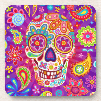 Sugar Skull Coaster Set of 6 - Day of the Dead