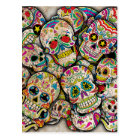 Sugar Skull Collage Postcard