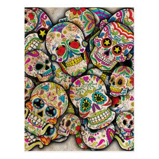 Sugar Skull Collage Postcard