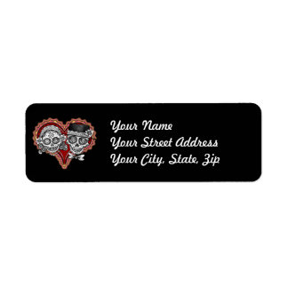 Sugar Skull Couple Address Labels