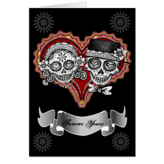 Sugar Skull Couple Cards - Add your own text