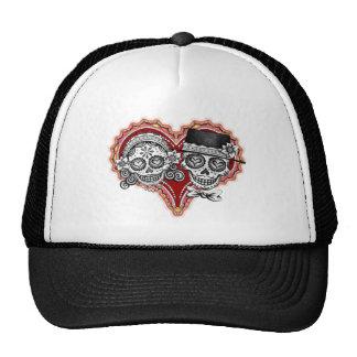 Sugar Skull Couple Hats
