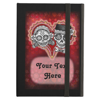 Sugar Skull Couple iPad Case with Kickstand