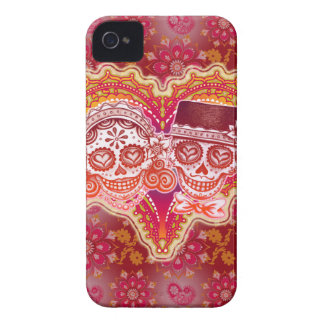 Sugar Skull Couple iPhone 4 4S Barely There Case Case-Mate iPhone 4 Cases
