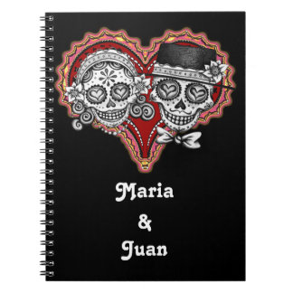 Sugar Skull Couple Notebook - Customize it!