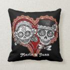Sugar Skull Couple Pillow - Customize it!