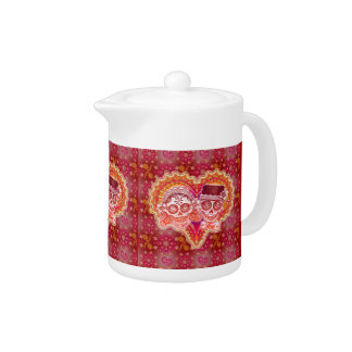 Sugar Skull Couple Teapot Day of the Dead