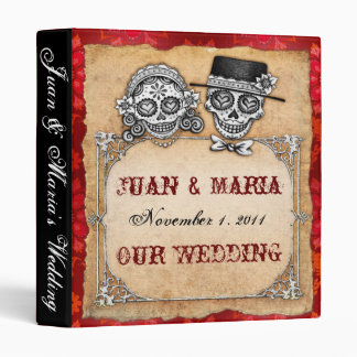 Sugar Skull Couple Wedding Binder