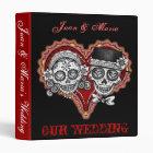 Sugar Skull Couple Wedding Binder