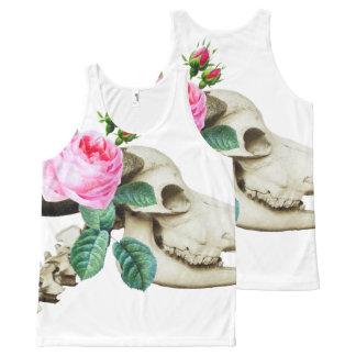 Sugar Skull Cow Rose All-Over-Print Tank Top