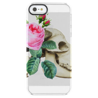 Sugar Skull Cow Rose Clear iPhone SE/5/5s Case