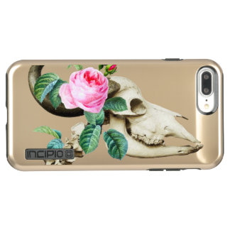 Sugar Skull Cow Rose Incipio DualPro Shine iPhone 8 Plus/7 Plus Case