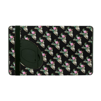 Sugar Skull Cow Rose iPad Folio Case